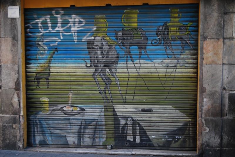 Ściana Grafiti Barcelona