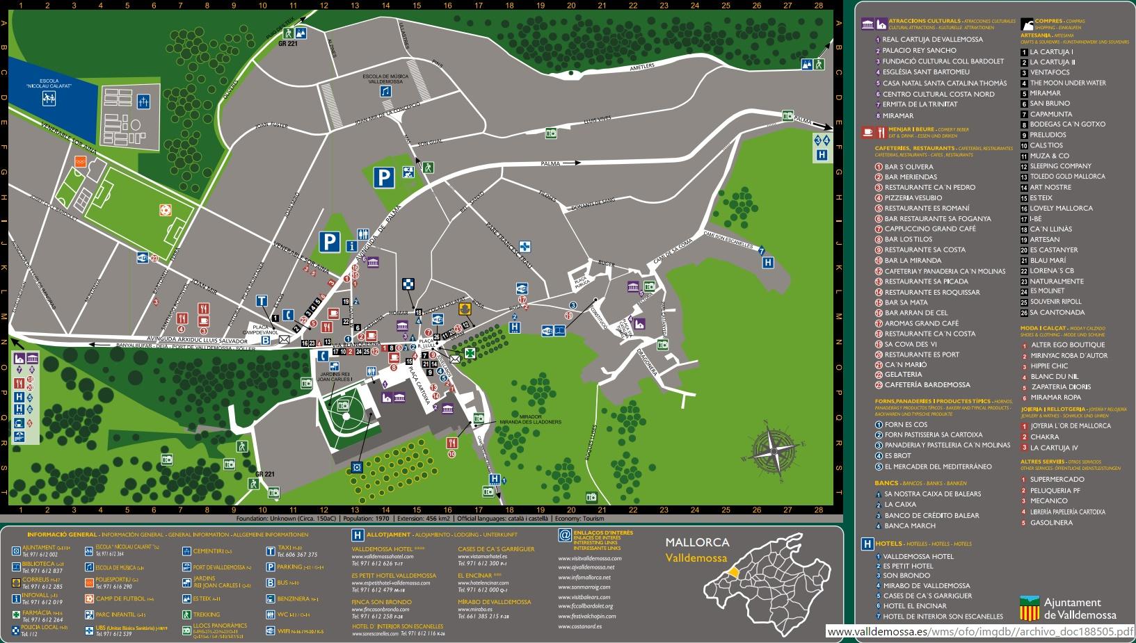 Mapa Valldemossa